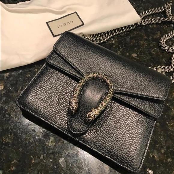 Gucci Handbags - Black Gucci Dionysus Mini